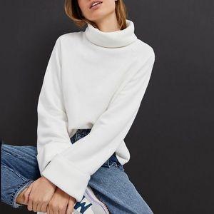 NWT Anthro Thomasa Fleece Turtleneck Sweatshirt